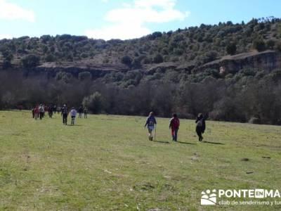 Senderismo Segovia - Riberas de los ríos Pirón y Viejo; piedra escrita cenicientos; valles de los